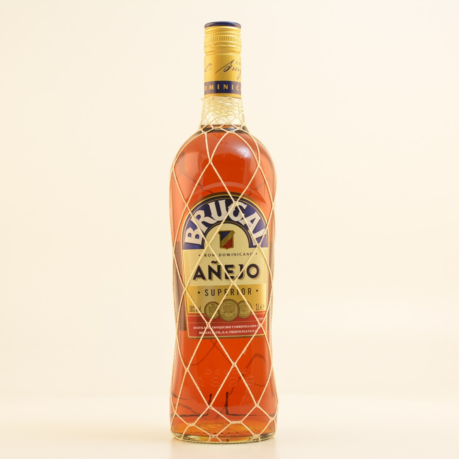 Brugal Ron Anejo Superior 38% 1,0l + Goldberg Intense Ginger (Alkohlfrei) 8 x 0,15l