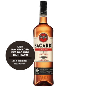 Bacardi Oakheart Spiced Spirit Drink (Rum-Basis) 35% 1,0l