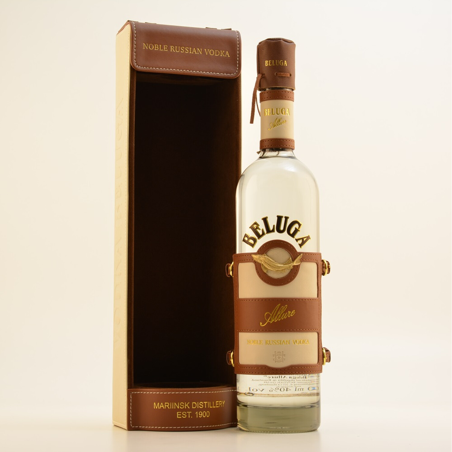 Beluga Vodka Allure 40% 0,7l Lederbox