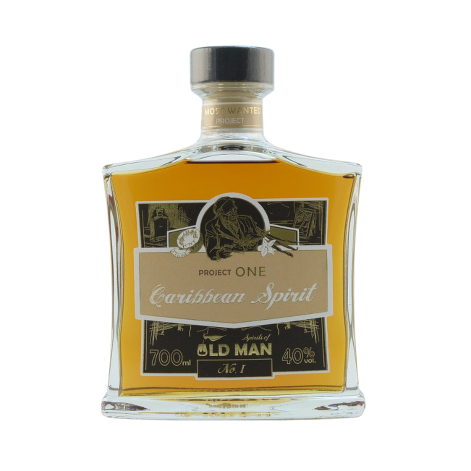 """Rum Project One"" (Caribbean Rum) by Spirits of Old Man 40% 0,7l"