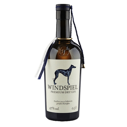 Windspiel Premium Dry Gin 47% 0,5l + 4x Windspiel Herbal Hanf Tonic Water 0,2l