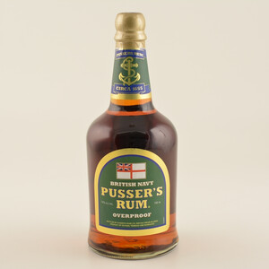 Pussers British Navy Rum Green Label Overproof 75% 0,7L