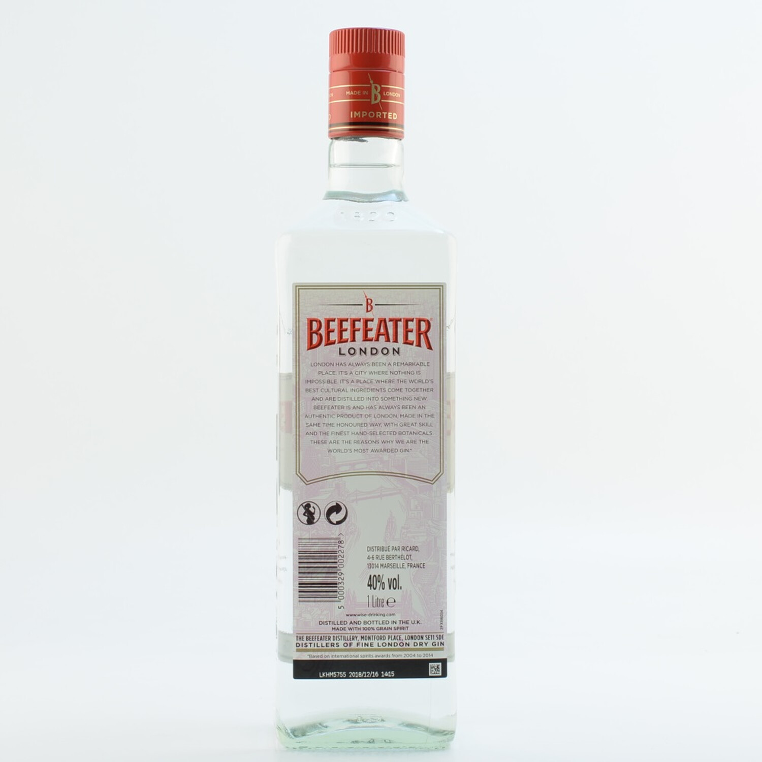 Beefeater London Dry Gin 40 10l 1890