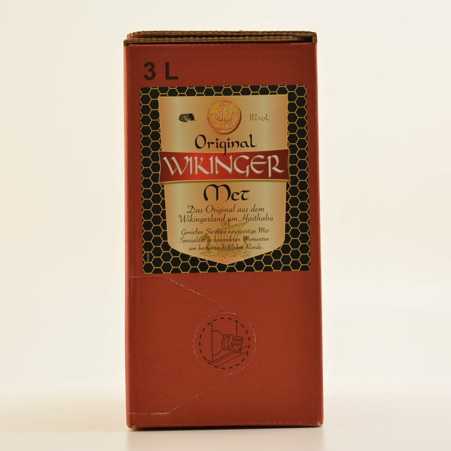 Original Wikinger Met 3 Liter Bag Box 11% (7,63 € pro 1 l)