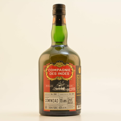 CDI Dominidad 15 Jahre Small Batch Rum 43% 0,7l