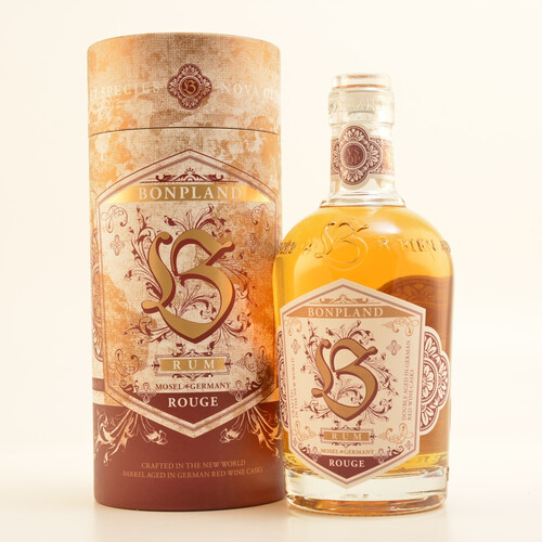 Bonpland Rum Rouge VSOP 40% 0,5l + 2 Old Fashion Gläser