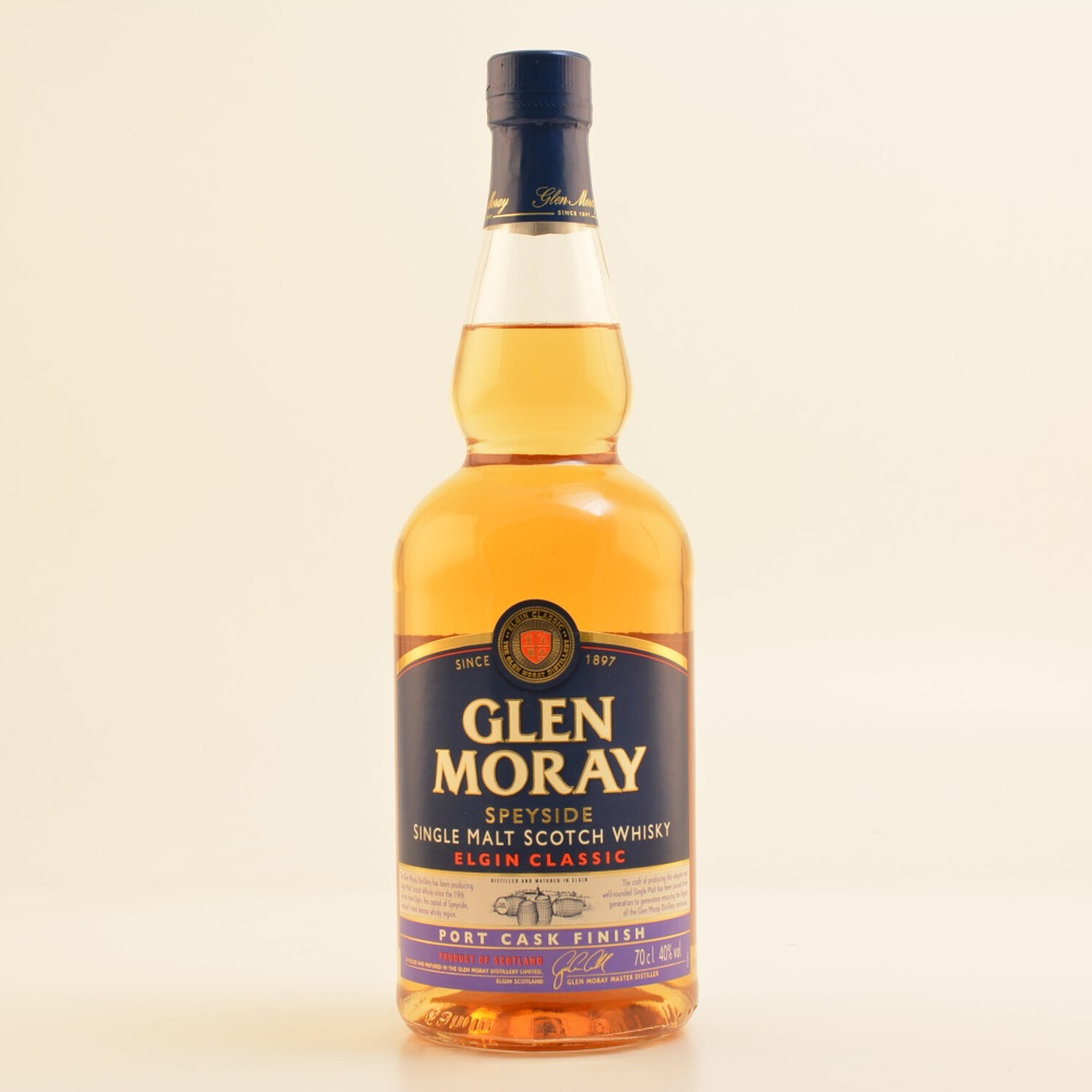 Glen Moray Port Cask Speyside Whisky 40% 07l