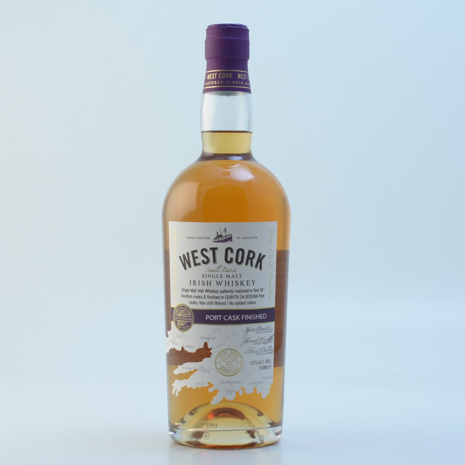 West Cork 12 Jahre Port Cask Irish Whiskey 43% 0,7l (49,86 € pro 1 l)