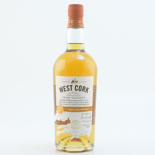 West Cork Rum Cask Single Malt Irish Whiskey 43% 0,7l