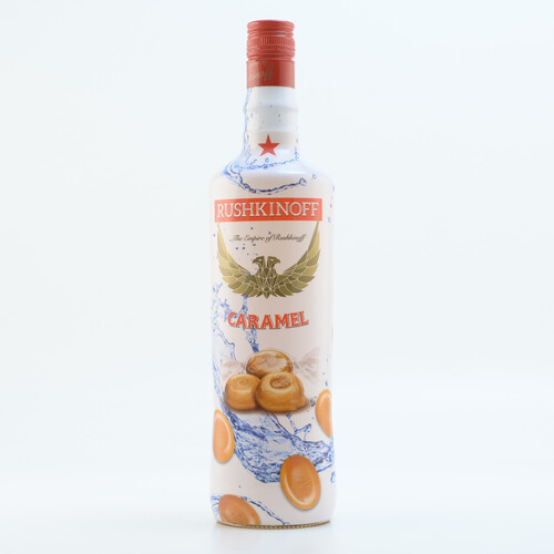 Rushkinoff Vodka & Caramel 18% 1,0l