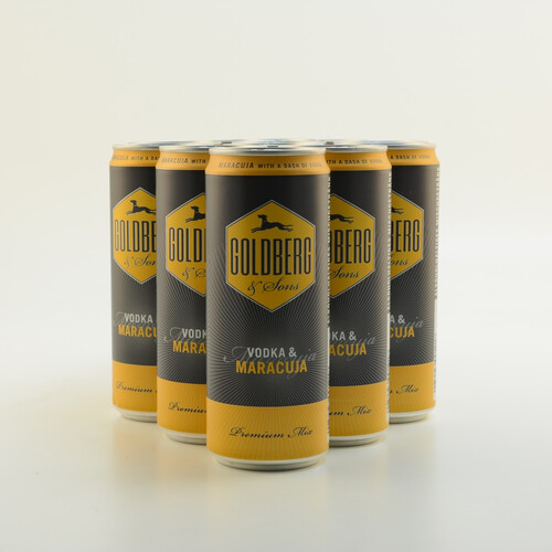 Goldberg Maracuja + Vodka 10% 12x0,33l