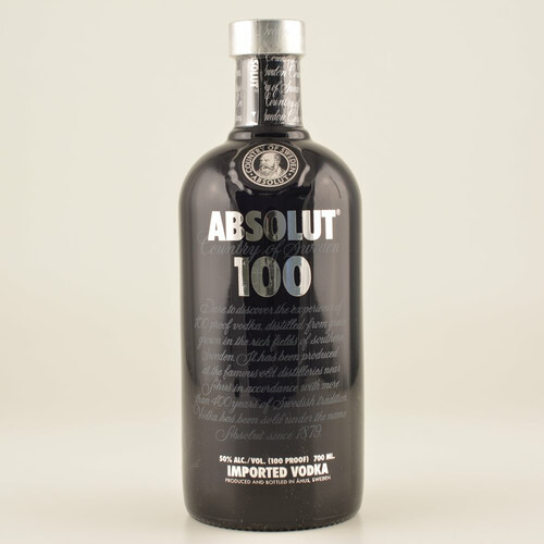 Absolut Vodka 100 Black 50% 0,7l