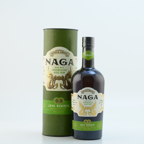 Naga Double Cask Aged Indonesian Rum 40% 0,7l + 2 Shot Becher