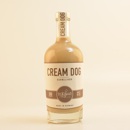 St. Kilian Distillers Cream Dog Sahne Likör 25% 0,5l