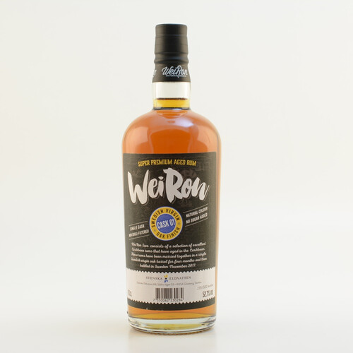 WeiRon Swedish Virgin Oak Rum 52,7% 0,7l