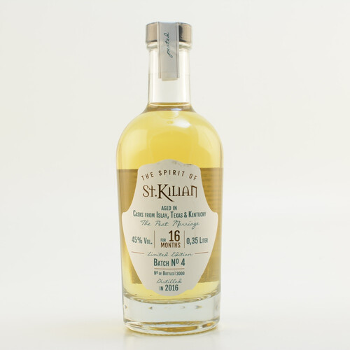 Restposten: St. Kilian Batch 04 - Peat Marriage - 16 Monate Triple Cask Limited 45% 0,35l