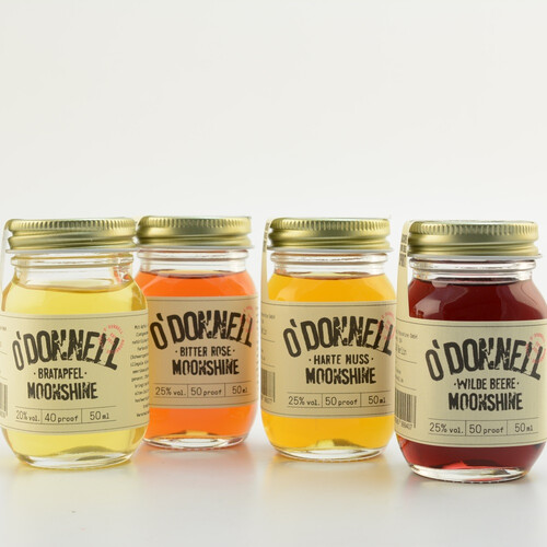 O'Donnell Moonshine Mini Jar-Set 4 x 50ml