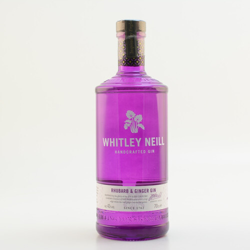 Whitley Neill Handcrafted Rhubarb & Ginger Gin 43% 0,7l